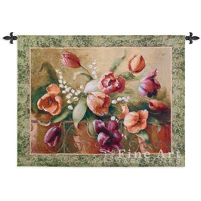 45x32 TERRACE TULIPS Floral Tapestry Wall Hanging