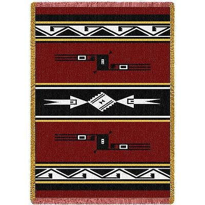 69x48 SOUTHWEST FIRE Hopi Red Afghan Throw Blanket