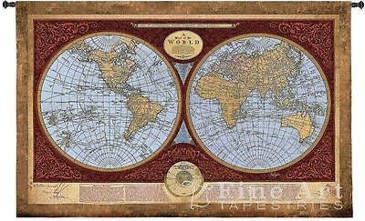 53x76 Map of the World Wall Hanging