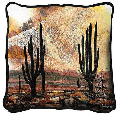 ~Set of 2~ SONORAN SENTINELS Cactus Desert Southwest Pillows