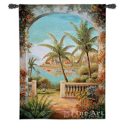 40x54 TROPICAL TERRACE II Tapestry Wall Hanging