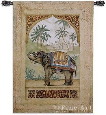 52x36 OLD WORLD ELEPHANT II Tapestry Wall Hanging