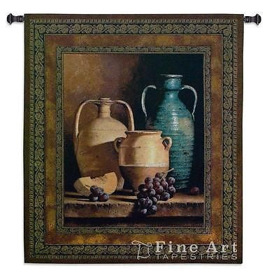 45x53 JUGS ON A LEDGE Tapestry Wall Hanging