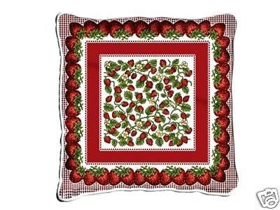 ~Set of 2~ Strawberry Festival Pillows