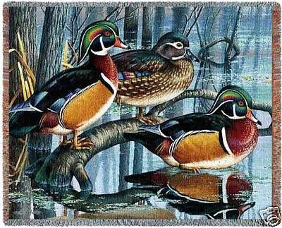 70x53 WOOD DUCK Throw Blanket