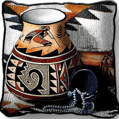 ~Set of 2~ KOKOPELLI Pot Southwest Pillows