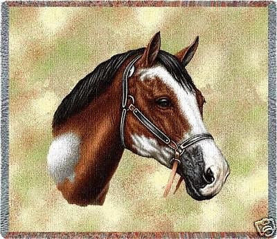 54x54 PAINT HORSE Tapestry Throw Blanket