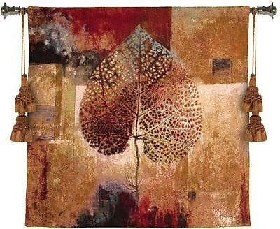 35x35 Abstract AUTUMN Fall Leaf Tapestry Wall Hanging