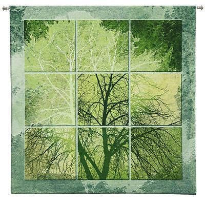 53x53 April Light Tree Tapestry Wall Hanging