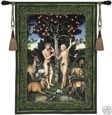 40x53 ADAM & EVE Tapestry Wall Hanging