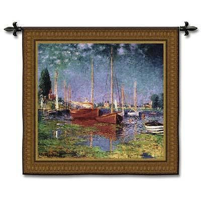 53x50 ARGENTEUIL Boats Fine Art Tapestry Wall Hanging