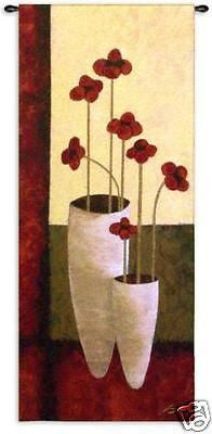 27x62 BOUQUET DE SEPT Floral Wall Hanging