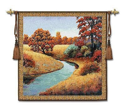 53x53 CALM Nature River Contemporary Tapestry Wall Hanging