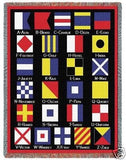 Nautical Flags Tapestry Throw Blanket