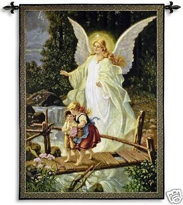 40x53 GUIDING ANGEL Tapestry Wall Hanging