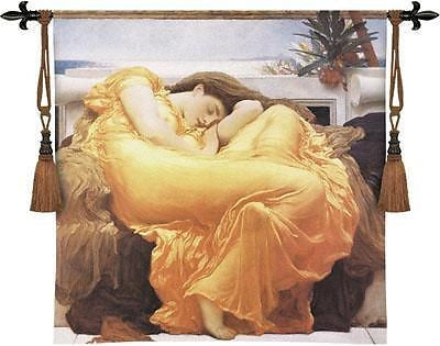 53x53 FLAMING JUNE Woman Tapestry Wall Hanging