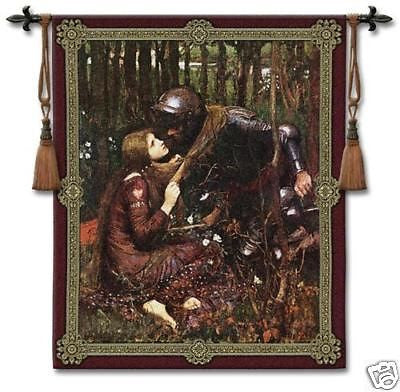44x53 LA BELLE Medieval Tapestry Wall Hanging