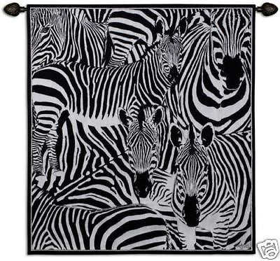 NEW 47x53 ZEBRA Jungle Africa Tapestry Wall Hanging