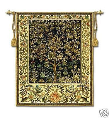 40x53 TREE OF LIFE Midnight Tapestry Wall Hanging