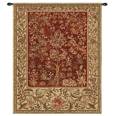 40x53 TREE OF LIFE  Ruby Tapestry Wall Hanging