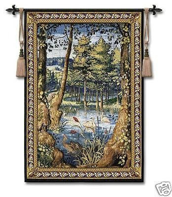 40x53 VERDURE w/ ANIMALS Tapestry Wall Hanging