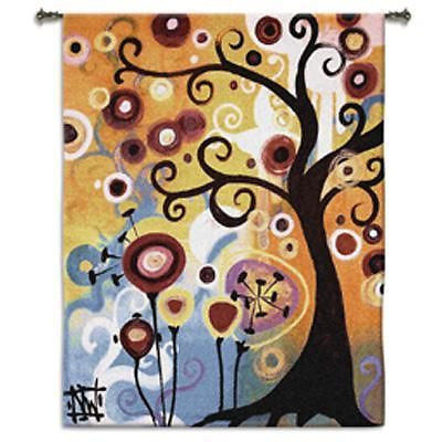 53x65 JUNE TREE OF LIFE Contemporary Fine Tapestry Wall Hanging