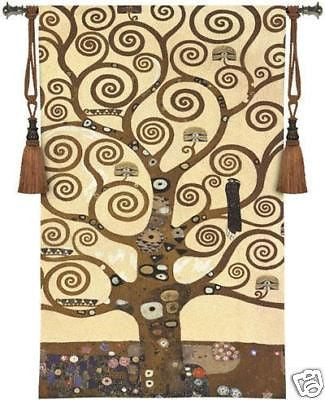 35x48 TREE OF LIFE Klimt Tapestry Wall Hanging