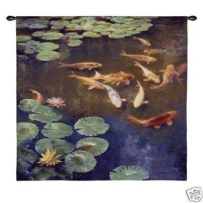 52x50 INCLINATIONS Koi Fish Tapestry Wall Hanging