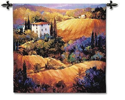 53x53 EVENING GLOW European Landscape Tapestry Wall Hanging