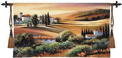 53x32 AFTERNOON LIGHT in TUSCANY Tapestry Wall Hanging