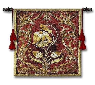26x26 BEL TESORO I Floral Tapestry Wall Hanging