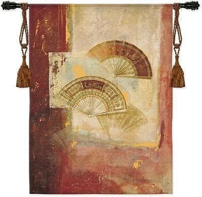 39x52 FAN Abstract Asian Tapestry Wall Hanging