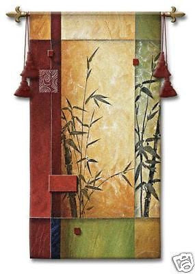 26x53 GARDEN DANCE I Bamboo Fine Tapestry Wall Hanging