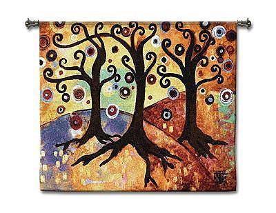 53x44 Trinity Tree Of Life Contemporary Tapestry Wall Hanging