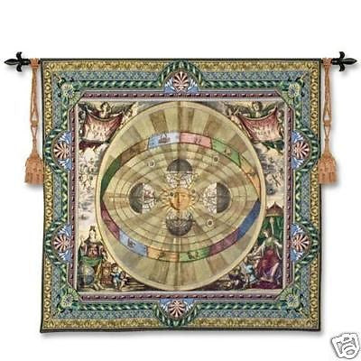 57x52 COPERNICAN SYSTEM Map Wall Hanging