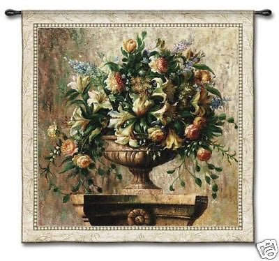 53x53 SONATA Floral Flower Fine Art Tapestry Wall Hanging