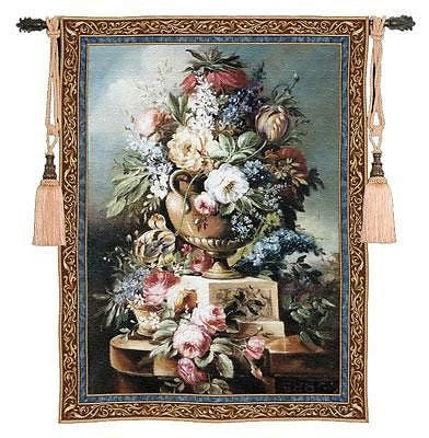 43x53 Summer Of Peace Floral Tapestry Wall Hanging