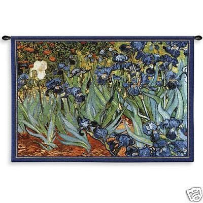 53x38 Van Gogh Irises Floral Tapestry Wall Hanging