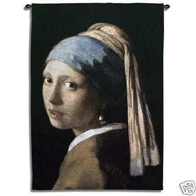38x53 GIRL PEARL EARRING Tapestry Wall Hanging