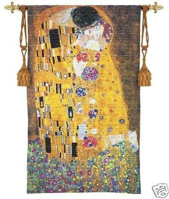 32x53 THE KISS Gustav Klimt Wall Hanging