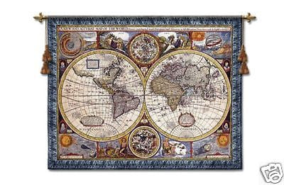37x45 Map of the World Wall Hanging