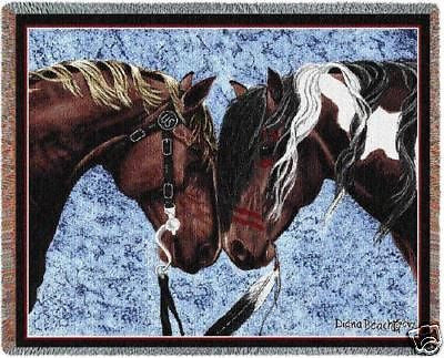 70x54 HORSE Southwest Throw Blanket