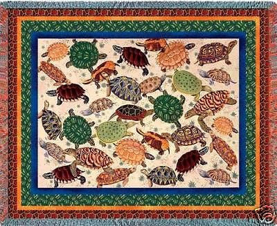 70x54 TURTLE Throw Blanket