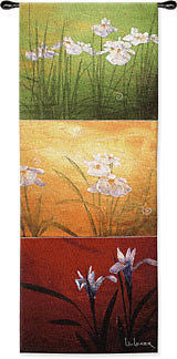 53x18 KARMA Flower Floral Tapestry Wall Hanging