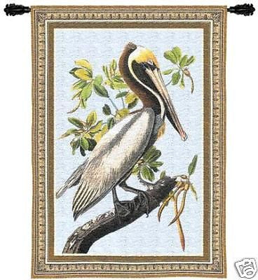 36x27 BROWN PELICAN Tapestry Wall Hanging