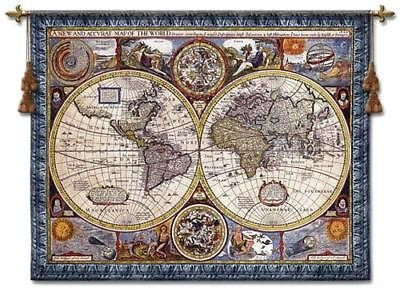 53x67 Map of the World Wall Hanging