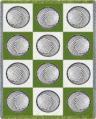 69x48 GOLF BALLS Tapestry Afghan Throw Blanket