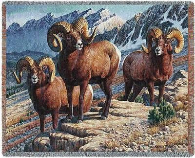 70x53 MOUNTAIN RAM Throw Blanket