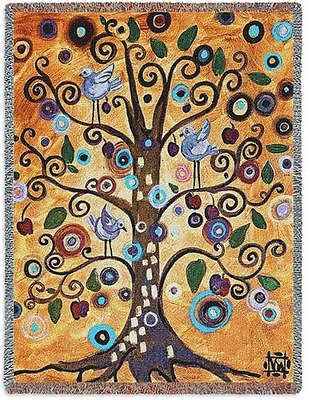 70x53 TREE OF LIFE Contemporary Throw Blanket