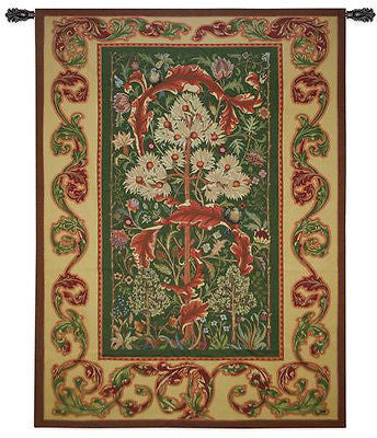 82X60 ACANTHUS William Morris Coral Floral Tapestry Wall Hanging